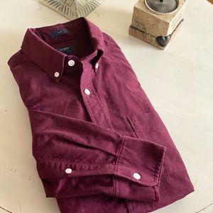 J. Crew Burgundy Oxford Button Down Shirt